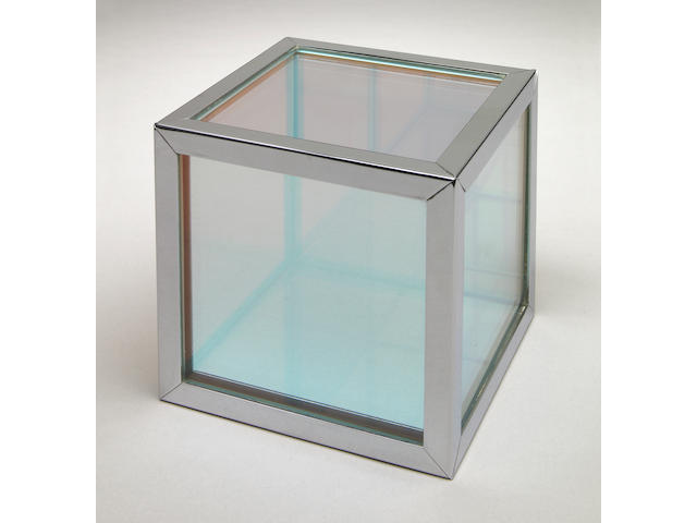 Larry Bell (American, b.1939) Untitled (Iridescent Cube), 1964 4 1/4 x 4 1/4 x 4 1/4in (10.7 x 10.7 x 10.7cm)