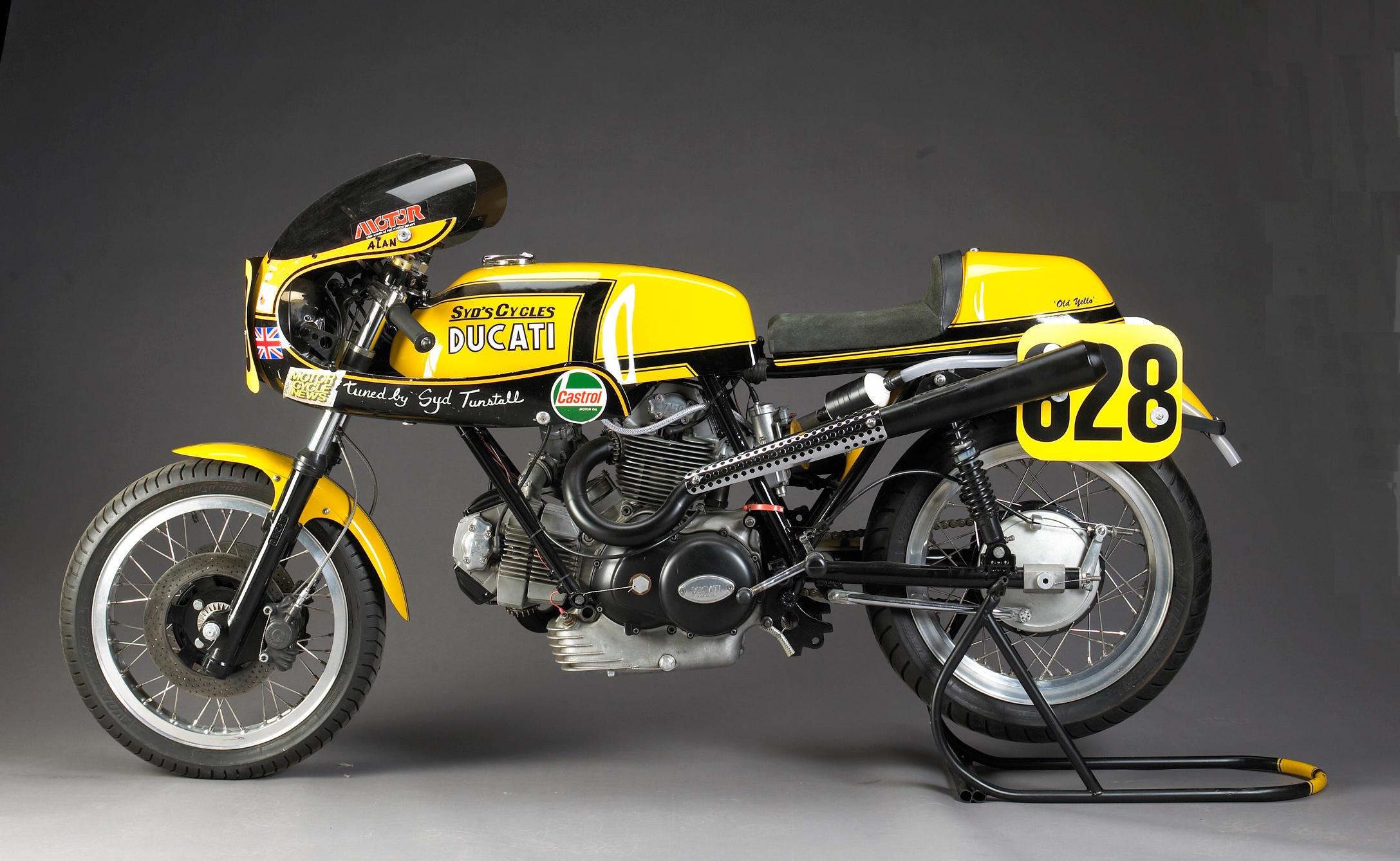 Ex-Syd Turnstall 1973 Ducati 750 Sport 885cc Racing Motorcycle 'Old Yello...