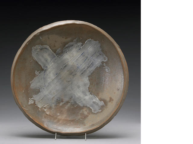 Peter Voulkos (American, 1924-2002) Untitled Plate, 1987 (CR949.21-G) Diameter: 19 3/4in (50.2cm)