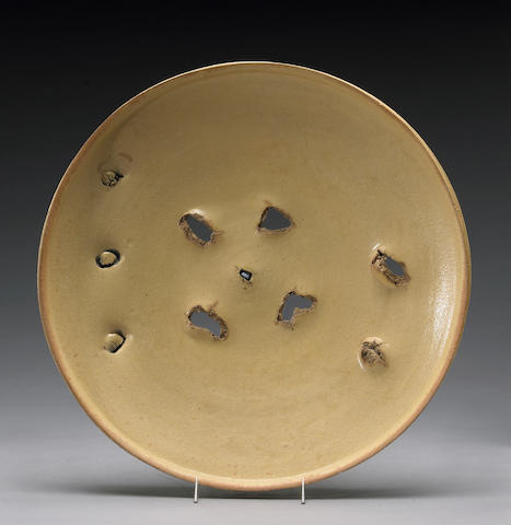 Peter Voulkos (American, 1924-2002) Untitled Plate, 1974 (CR704.145-G) Diameter 20in (50.8cm)