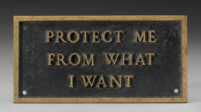 Jenny Holzer (American, 1950) Untitled from the Survival Series, 1986 4 x 8in (10 x 20.5cm)