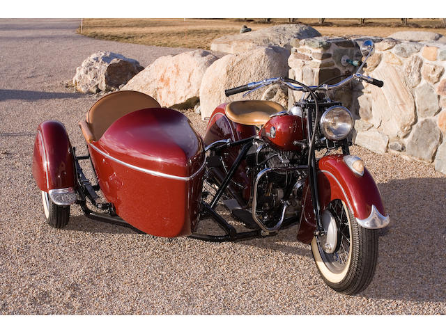 1946 Indian Chief 74ci with Sidecar Frame no. CDF6595