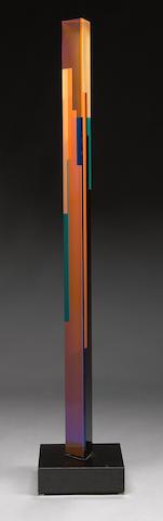 Vasa Velizar Mihich (Yugoslavian, b.1933) Untitled (Hexagonal Column), 1994 height 72 1/2in (183cm)