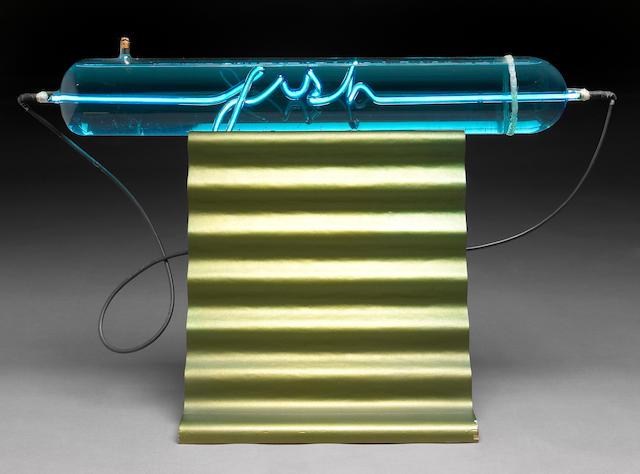 Peter Zecher (American, b.1945) Neon Fish 21 1/4 x 16 x 35in (54 x 40.6 x 89cm)