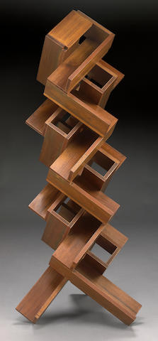 Peter Zecher (American, born 1945) Untitled (Stacked Wood), 1977 62 x 28 x 28in (157.5 x 71 x 71cm)