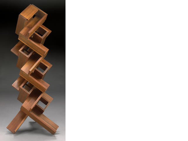 Peter Zecher (American, b.1945) Untitled (Stacked Wood), 1977 62 x 28 x 28in (157.5 x 71 x 71cm)
