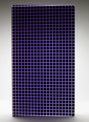 Vasa Velizar Mihich (Yugoslavian, b.1933) Untitled (Black and Purple Column), 1981 28 5/8 x 2 7/8 x 16 3/8in (72.7 x 7.4 x 41.6cm)