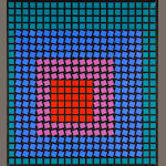 Victor Vasarely (Hungarian, 1906-1997) Eridan-MC, 1979 37 x 33 1/2in (94 x 85.1cm)