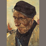 Willem van den Berg (Dutch, 1886-1970) The fisherman 8 x 6in (20.3 x 15.2cm)