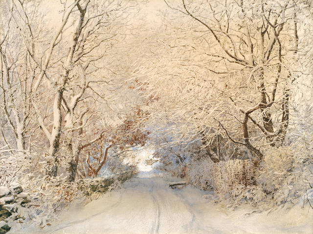 Walter Launt Palmer (American, 1854-1932) Path in a Winter Landscape