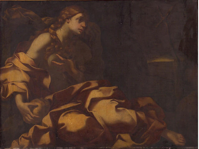 Circle of Carlo Cignani (Italian, 1628-1719) Mary Magdalene in prayer 35 3/4 x 46in (91 x 117cm)