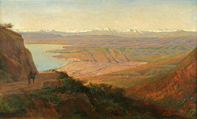 Henry A. Ferguson (American, 1845-1911) Vina del Mar from the South, Chile 18 1/4 x 30in