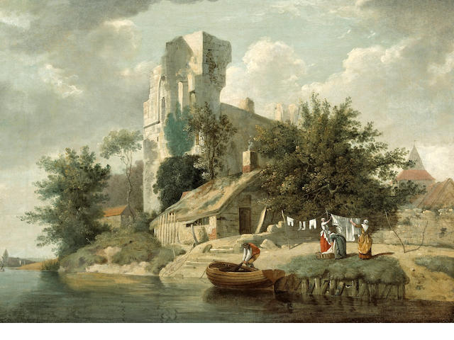 Attributed to John Berney Crome (British, 1794-1842) A view of Netley Abbey, Hampshire 21 x 29 1/2in (53.3 x 74.9cm)