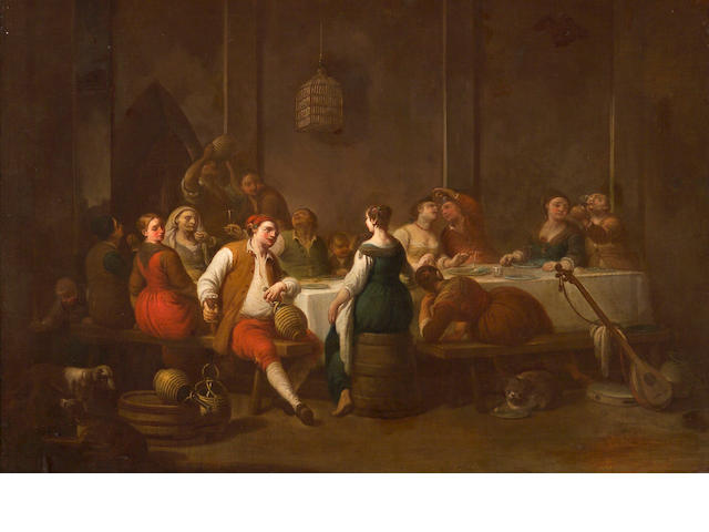 Attributed to Antonio Beccadelli A banqueting scene 42 1/4 x 62in (107.3 x 157.5cm)