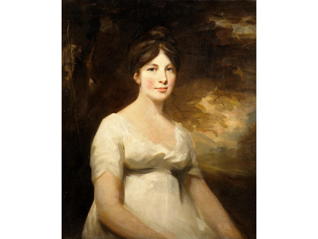 Sir Henry Raeburn, RA (British, 1756-1823) A portrait of Mrs. Robert William Duff of Fetteresso and Culter 30 x 25in (76.2 x 63.5cm)