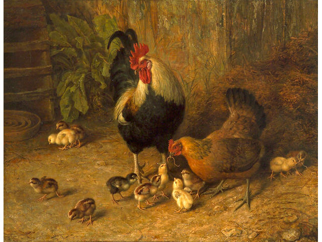 Frank Paton (British, 1856-1909) The happy family 34 x 44in (86.5 x 111.7cm)