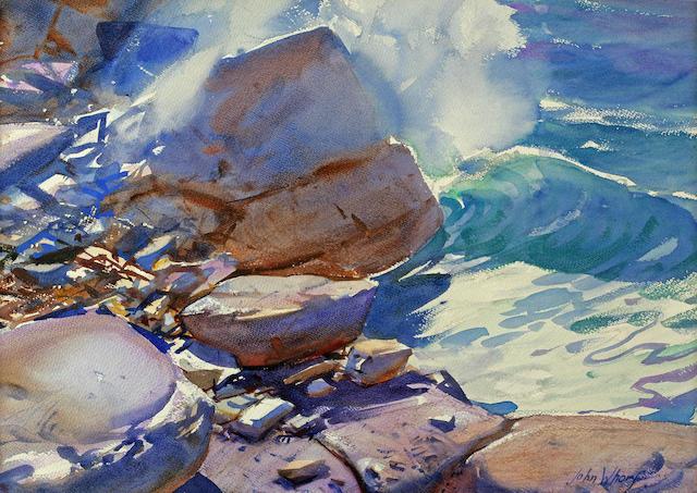 John Whorf (American, 1903-1959) Seascape 14 3/4 x 22in