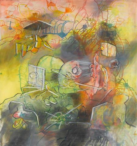 Roberto Matta (Chilean, 1911-2002) La Vitre du Fond Desterres, 1976 47 x 38in (102 x 96cm)