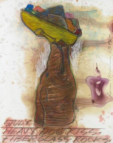 Dennis A. Oppenheim (American, b.1938) Study Heavy Dog Kiss, 1992 46 x 36in (117 x 92cm)