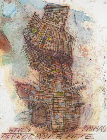 Dennis A. Oppenheim (American, b.1938) Study Kansas Performance Piece, 2000 50 x 38in (127 x 97cm)