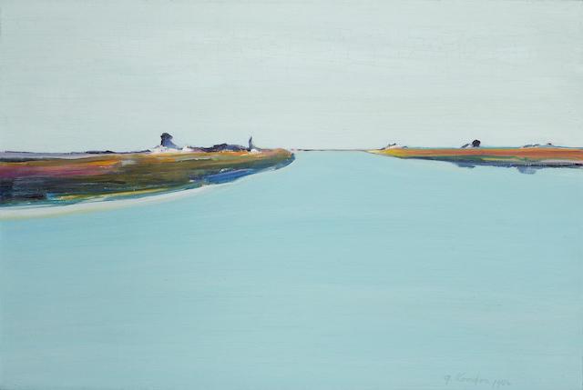 Gregory Kondos (American, b.1923) Sacramento River, 1982 16 x 24in (41 x 61cm)