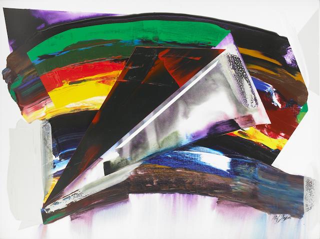 Paul Jenkins (American, b.1923) Phenomena Sundance Arch, New York, 1983/1985 58 x 78in (147.4 x 198c