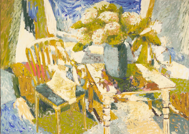 Viola Frey (American, 1933-2004) Room #2 - San Francisco, 1963 50 x 70in (127 x 178cm)
