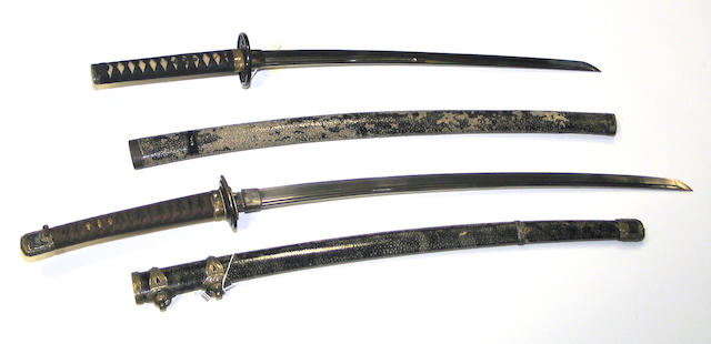 One tachi and one wakazishi  Shinshinto