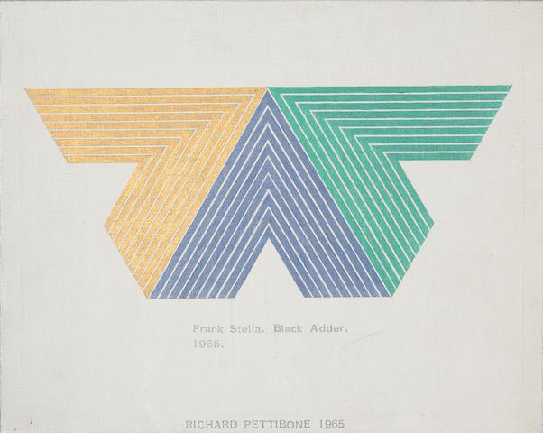 Richard Pettibone (American, b.1938) Frank Stella (Set #6), 1966; Frank Stella Slieve More 1964, 196