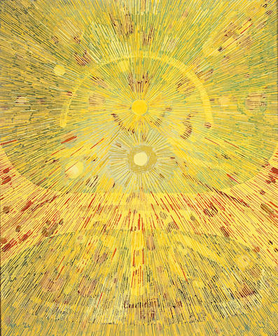 Lee Mullican (American, 1919-1998) Untitled 24 x 20in (61 x 51cm)