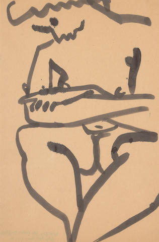 David Park (American, 1911-1960) Seated Female #19, c.1955-1959 18 x 12in (46 x 30cm)