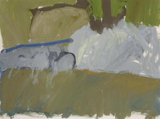 Paul Wonner (American, born 1920) Landscape Davis, c.1950s 18 x 24in (45.7 x 61cm)