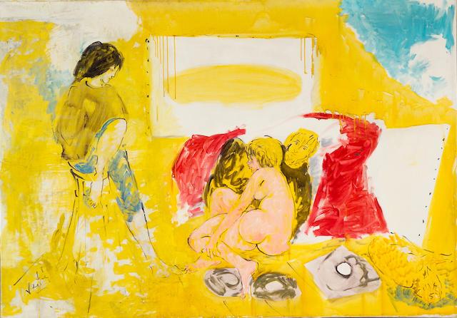 Marcel Vertès (French, 1895-1961) Les peintres temoins de la temps 45 x 64in (114.2 x 162.5cm)