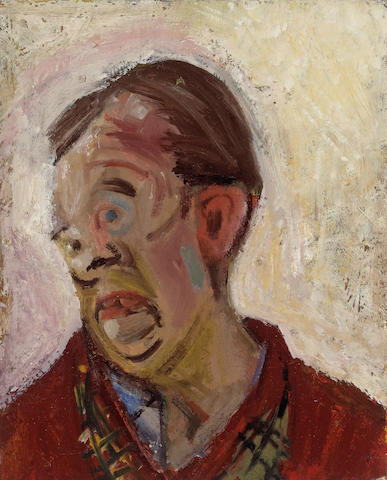 Hassel Smith (American, 1915-2007) Self Portrait, 1948 20 x 16in (51 x 40.5cm)