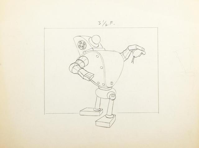 Excellent Bonhams Six Walt Disney Drawings From Modern Inventions Machost Co Dining Chair Design Ideas Machostcouk