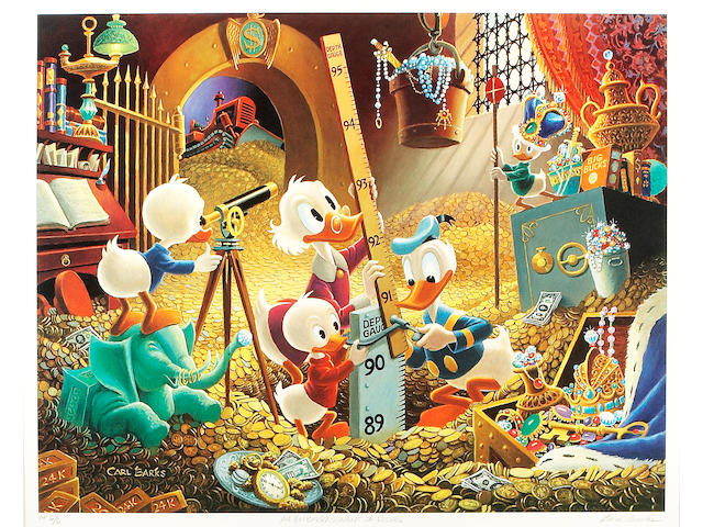 "Carl Barks – Another Rainbow Artist Proof AP-6 to ""An Embarrassment of Riches"""