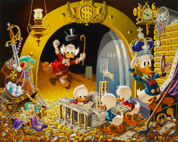 "Carl Barks - Original Artwork to the Painting entitled ""Hands Off My Playthings"""