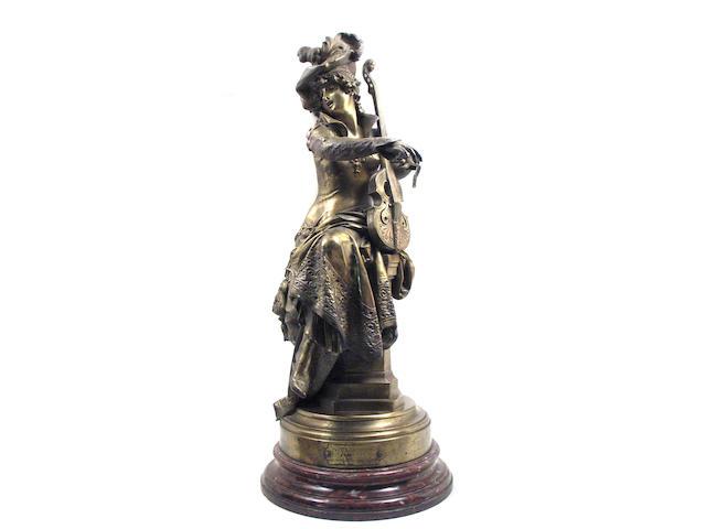 A French gilt bronze figure: Canzonetta