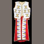 A Shuswap boy's beaded vest and leggings