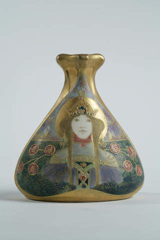 An Amphora glazed porcelain portrait vase: The Princess