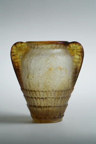 A Gabriel Argy-Rousseau pâte de verre vase: Fern