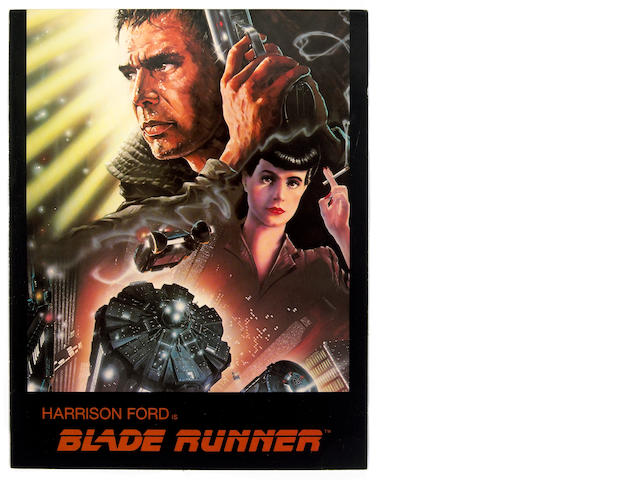 "An original program and stills from ""Blade Runner"""