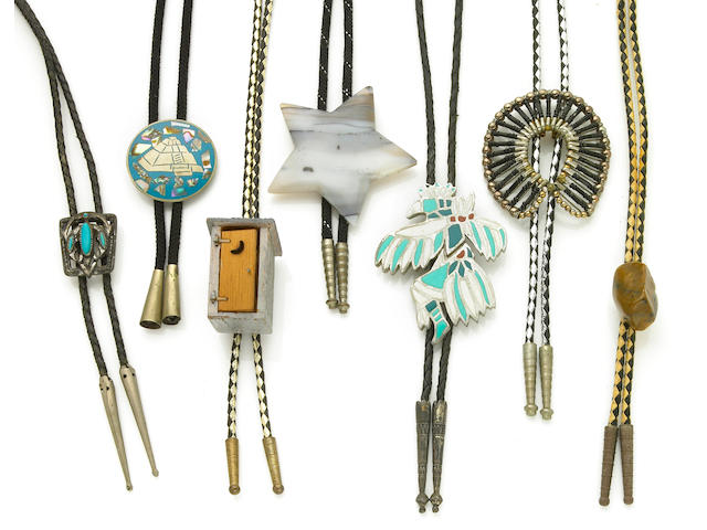 A William Boyd group of bolo ties, 1950s-1960s