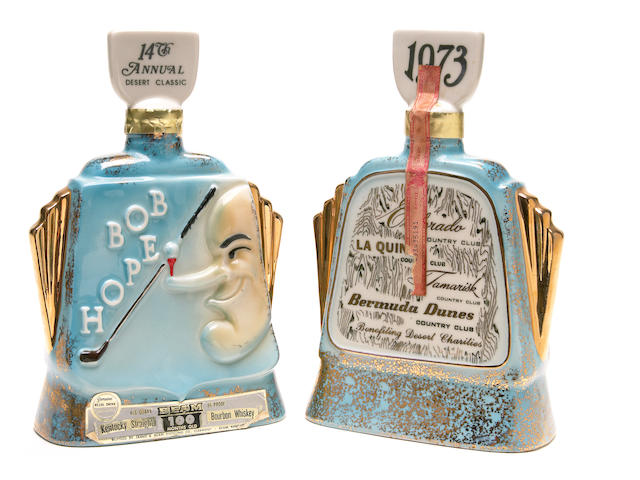 "A Bob Hope set of decanters from ""The 14th Annual Desert Classic,"" 1973"