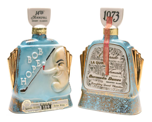 """A Bob Hope set of decanters from """"The 14th Annual Desert Classic,"""" 1973"""