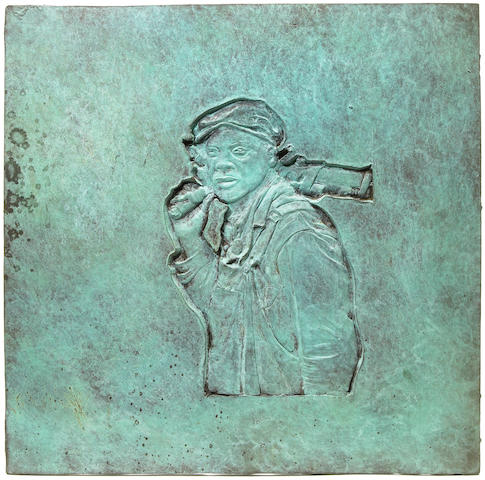 Robert Graham (American, born 1938) Franklin Delano Roosevelt Memorial Plaque, Social Programs, 1996 12 5/8 x 12 5/8in (32 x 32cm)