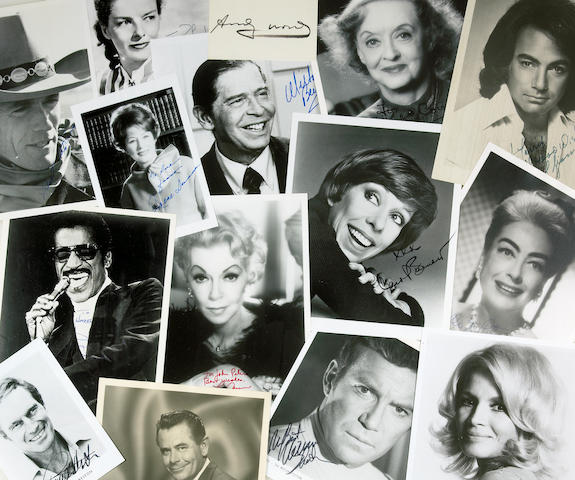 A massive collection of movie star autographs, 1930s-1980s