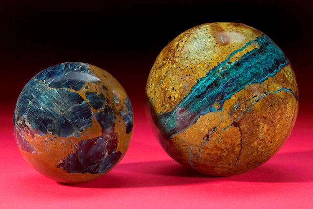 Apatite and Calcite Sphere