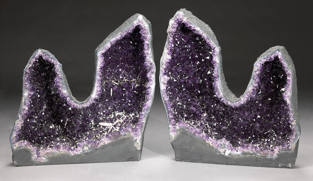 Pair of Amethyst Geode Halves