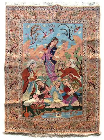 An Isphahan rug